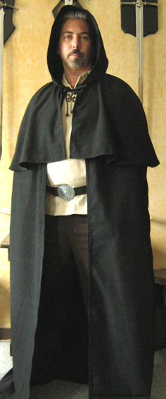 Medieval Celtic Viking Wizard Hooded Cloak with Mantle. $99.99, via Etsy.