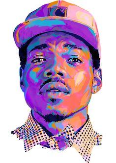 Fluorescent pop art if Chance The Rapper 🔥🔥 Arte Do Hip Hop, Hip Hop Art, Illustrations Pop, Illustration Art, Creative Illustration, Art Pop, Portraits Pop Art, Trill Art, Illustrator