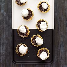 Image of  Dark Chocolate and Sea Salt Tarts