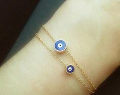 Pulsera amistad pulsera de la secuencia de mal de por monroejewelry