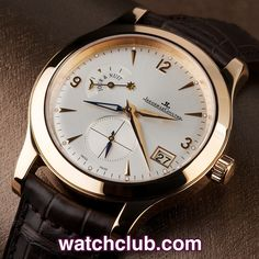 Jaeger-leCoultre Master Hometime - 40mm 'Rose Gold' REF: 147.2.05.S | Year 2005 - 18ct rose gold Jaeger LeCoultre Master 'Hometime'. In beautiful condition, this large 40mm case houses JLC's superb in-house self-winding movement (cal.975) with 22ct rotor, visible through the sapphire crystal caseback. Sporting an elegant silvered dial, which enables the wearer to read two seperate times simultaneously, along with night and day indication and date.