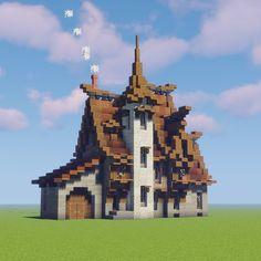 Casa Medieval Minecraft, Minecraft House Plans, Minecraft Mansion, Minecraft Cottage, Minecraft Castle, Minecraft House Tutorials, Cute Minecraft Houses, Minecraft House Designs, Amazing Minecraft