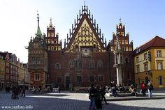 Wrocław, Ratusz. Wroclaw, Town Hall.