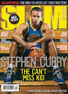 Stephen Curry wearing the UA Anatomix Spawn basketball shoes on the cover of SLAM Magazine #underarmour
