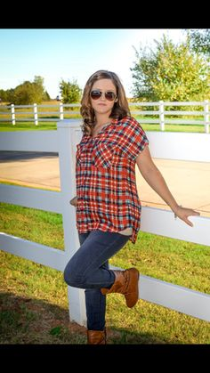 Country plaid Tunic  28.00+free shipping!!– Armoured Belle Boutique