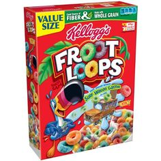 Kelloggs Froot Loops Cereal 217 Ounce Pack of 8 -- Continue to the product at the image link. (This is an affiliate link) Breakfast Snacks, Breakfast Cereal, Little Girl Makeup Kit, Comida Disney, Froot Loops, Sleepover Food, Cereal Recipes, American Food, Gourmet Recipes