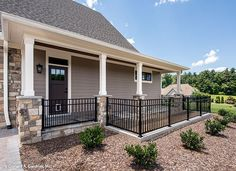 Pet friendly home idea! A doggy door leading to a gated patio allows pets to roam freely and safely. The Chesnee #1290.