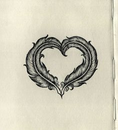 """Feather heart. I would so do this but I would want the feathers to be all black, and the lyrics """"All there is, is a long road to freedom. Heaven above and the devil beneath."""" From """"We're All in This Together"""" by OCMS, and the dates 1/21/90-10/3/2012"""