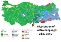 Distribution of Languages in Turkey.
