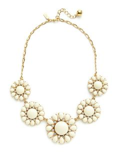 White Glossy Garden Necklace by kate spade new york on Gilt