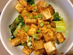 Spicy Peanut Tofu with Bok Choy