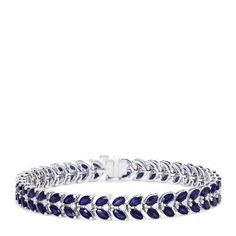 Effy Royale Bleu White Gold Sapphire and Diamond Bracelet, TCW Cyber Week Deals, Effy Jewelry, Black Friday Deals, Holiday Fashion, Sapphire, Sparkle, White Gold, Wedding Rings, Engagement Rings