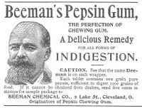 Beemans Pepsin Gum for Indigestion 1893 Ad Picture