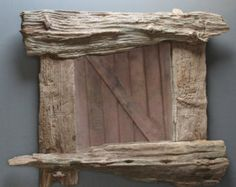 Large Driftwood MirrorLandscape Rustic by JuliasDriftwood on Etsy