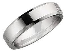 Men's Chisel 6mm Comfort Fit Beveled Edge Tungsten Wedding Band