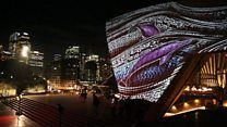 Sydney Opera House display celebrates indigenous painting - BBC News