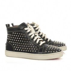 1fcb2cc686e Christian Louboutin Louis Studded High-Top Sneakers Black   ChristianLouboutin High Top Sneakers