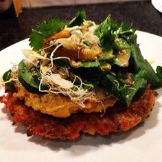 #homemade #healthy #carrot #pancake #carrothummus #salad #delicousness #healhtylifestyle