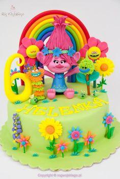Trolls Poppy Cake / Tort z bajki trolle by Edyta rogwojskiego.pl