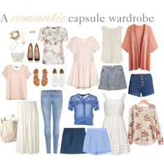a romantic capsule wardrobe.