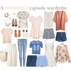 a romantic capsule wardrobe.