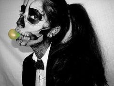 """Lady Gaga """"Born This Way"""" Music Video Skeleton Makeup"""