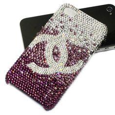 ***************swaovski_crystal_chanel_logo_iphone_4_cases_pink