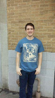 Men's T-shirt blue- Short sleeve - spring style fashion @ Black Bear Trading Asheville N.C.
