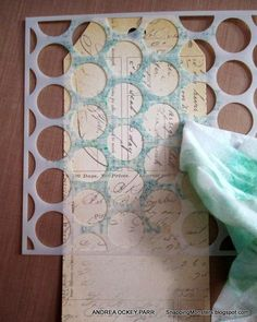 Snapping Monsters: Tutorials: Stamping Over Stencils #DIY-Crafts