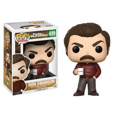 Parks and Recreation Ron Swanson Pop! Vinyl Figure from Funko. Perfect for any Company_Funko Product Type_Pop! Vinyl Figures Theme_Parks and Recreation fan! Parks And Recreation, Parks And Rec Ron, Ron Swanson, Rapunzel Disney, Otaku, Cool Mustaches, Rick Y Morty, Pop Toys, Pop Television