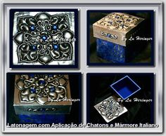 Caixa com as técnicas de Latonagem Tradicional e Mármore Italiano - Box with 2 techniques: Italian Marble and Traditional Metal Embossing - Caja con 2 técnicas: Marbol Italiano y Repujado-------------------PATCHWORK NO ISOPOR - Patchwork on styrofoam - Patchwork en espuma de poliestireno -------------------------------- LOJA: casadalatonagem.com - FANPAGE: facebook.com/casadalatonagem  - PINTEREST:br.pinterest.com/luheringer  -YOUTUBE: youtube.com/user/LuHeringerArtesanato/videos -