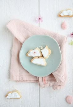Cloud cookies for hot air balloon and other flight parties or Love you when skies are gray party...