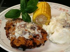 Country Fried Steak with White Gravy recipe