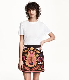 Upholstery Fabric is another look that's on-trend for Fall.  This beautiful embroidered skirt by H&M is reminiscent of a gorgeous rug.