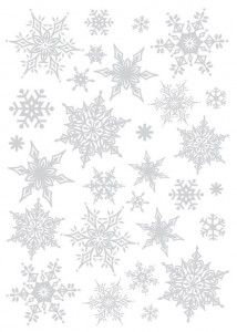 [포인트스티커] 크리스마스스티커 >PSC58170(반짝이눈꽃 실버) : 네이버 블로그