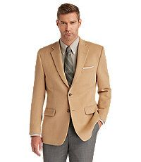 Executive 2-Button Camelhair Blazer Saco Sport Hombre 79e3613cda36