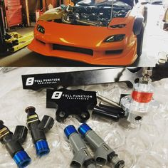 Christian's RX7 FD New Full Funtion Engineering Fuel Rails and Injectors for the thirsty beast.