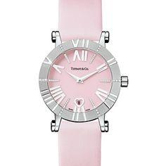 Atlas® watch in 18k white gold with diamonds, quartz movement.