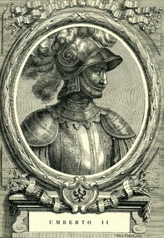 Umberto II, nicknamed the Fat, was Count of Savoy from 1080 until his death in 1103. Son of Amadeus II of Savoy, husband of Gisela of Burgundy, Countess of Savoy & Marchioness of Montferrat, father of Amadeus III, Count of Savoy & Adelaide of Maurienne, second spouse but first Queen consort of Louis VI of France. 26th ggf