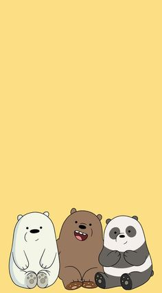 [We Bare Bears pastel lockscreens] pls like or reblog if you save ! :)