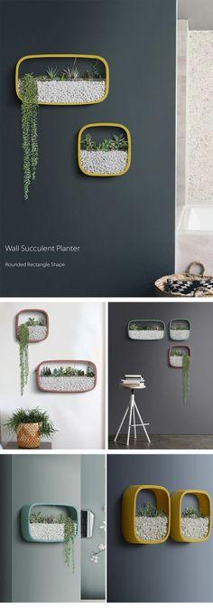 Geometric Wall Planters Fantastic Wall Arts #HomemadeWallDecorations,