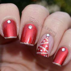 Elegant Christmas nail art - The Polished Mommy