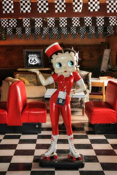 Betty Boop On Route 66 by Lori Deiter
