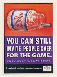 Invite People for Game Kraft Miracle Whip Jar (1999)