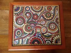 Upcycled box Mosaic Pictures, Mosaic Ideas, Upcycle, Boxes, Paper, Frame, Home Decor, Mosaics, Crates