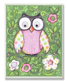 Take a look at this Green Owl Wall Art by The Kids Room by Stupell on #zulily today!