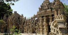 Hauterives (SE France) - French Mailman Spends 33 Years Building Epic Palace From Pebbles Collected On His Mail Route The Story Of Ferdinand, Stone Stairs, Le Palais, Construction, France, Beautiful Places To Visit, The Sims, Wanderlust Travel, Logs