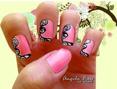 uñas rosa/ pink nails