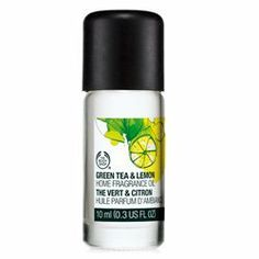 The Body Shop Green Tea & Lemon Home Fragrance Oil 0.3 fl oz by The Body Shop. $11.46. Best if you want to: Refresh your mind with a crisp, lively aroma in a scented oil that can be used several ways to fragrance your home and help create your desired atmosphere. How it works: Lemon and green tea provide the initial scent of the fragrance. Lily of the valley and jasmine are the dominant notes of the fragrance. Our Home Fragrance Oils can be used with our stylish burn...