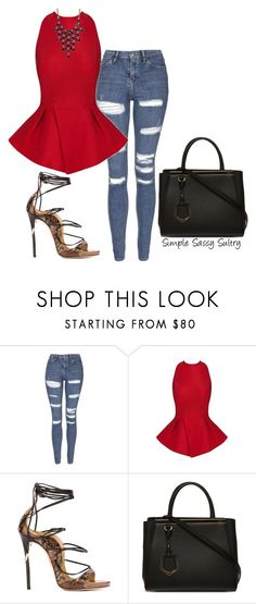 """Ruby"" by simplesassysultry on Polyvore featuring Topshop, Posh Girl, Dsquared2, Fendi and Kenneth Cole"